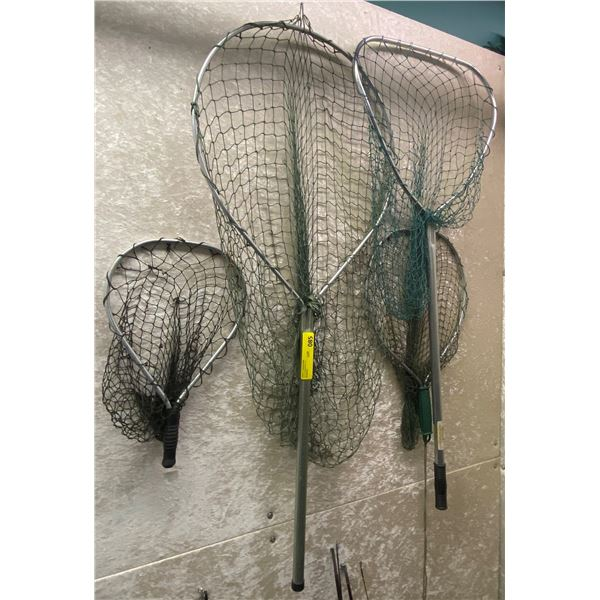 Group of four assorted trout nets