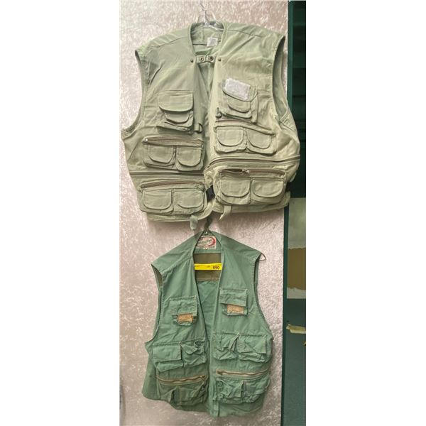 Two fishing vest