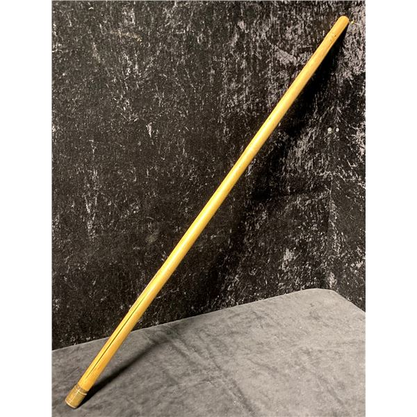 Antique bamboo with brass cap rod tip holder
