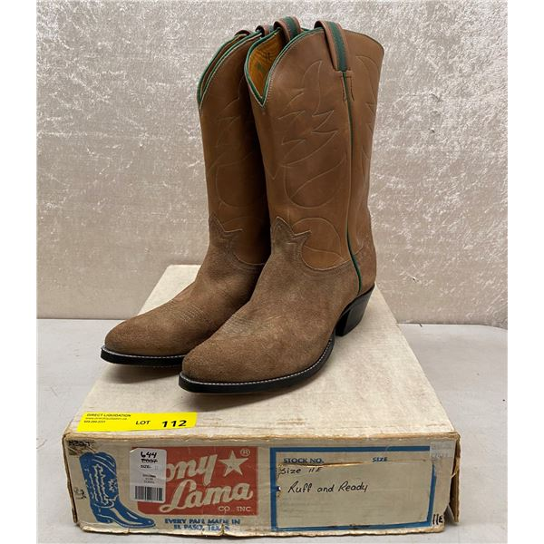 Pair of Tony Lama rough and ready cowboy boots size 11 (NOS)