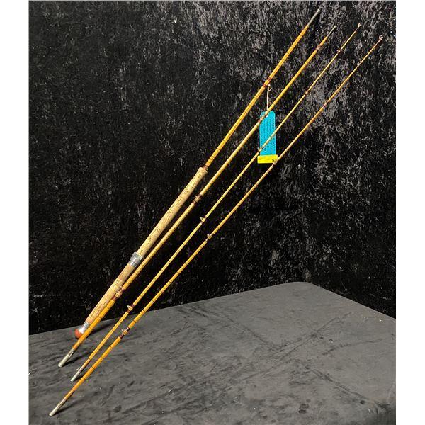 "Hardy The WYE Palakona spilt cane salmon fly rod 12'6"" 4 pc (2 tips & original rod storage tube)"