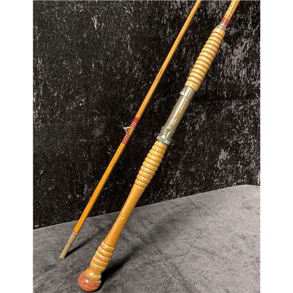 Montague Monterey approx. 8ft split cane fishing rod