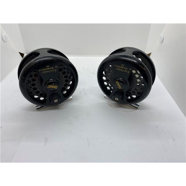 Two Kamloops by dragon fly #56 fishermans fly reels