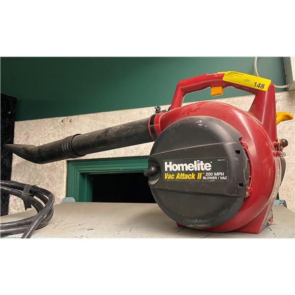 Homelite vacattack II 200 MPH blower/vac