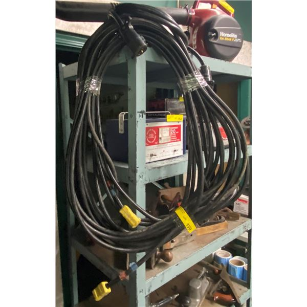 100ft black heavy duty extension cord
