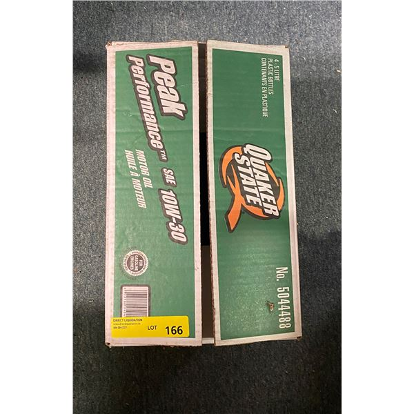 1 Case of quaker state 10 W-30 motor oil - 4/5 litre containers