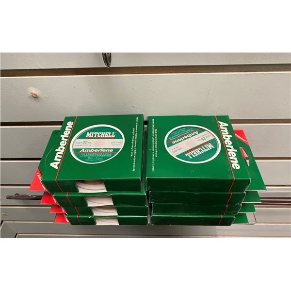 8 Packs of Mitchell amberlene 25 pound test fishing line