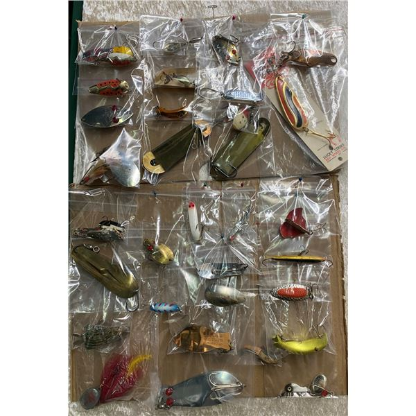 Large group of assorted fishing spoons and lures approx. 38