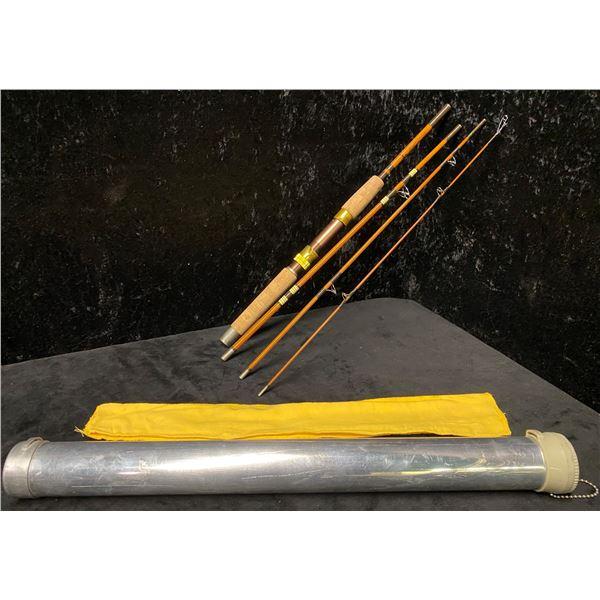 Wright & McGill trail master 4pc fishing rod w/storage tube 6 1/2ft