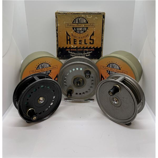 3 J.W. Young & sons fly reels - seldex/ 2 condex