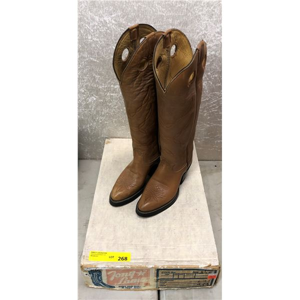 Brown high top cowboy boots ladies size 5 1/2 (NOS)