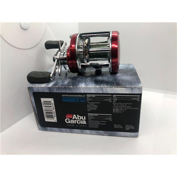 ABU Garcia 6600 BGX red level-wind reel w/ box