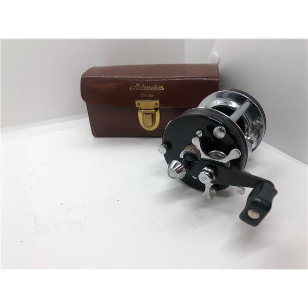 ABU Garcia ambassadeur 6000C black level-wind reel w/ leather case
