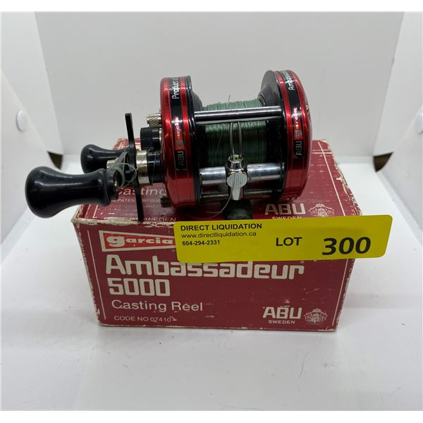 ABU Garcia ambassadeur 5000 red level-wind reel w/ box