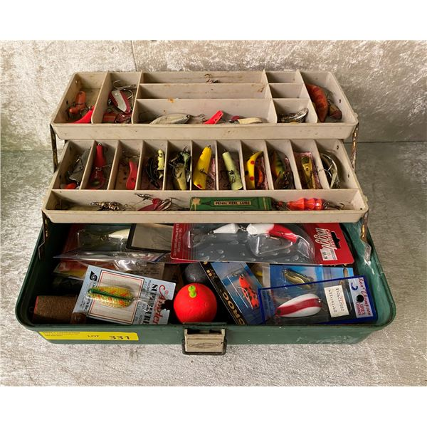 Vintage Plano tackle box & contents (mostly fresh water tackles)