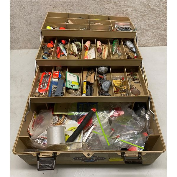 Tackle-mate tackle box & contents (mix of fresh water & ocean tackle)