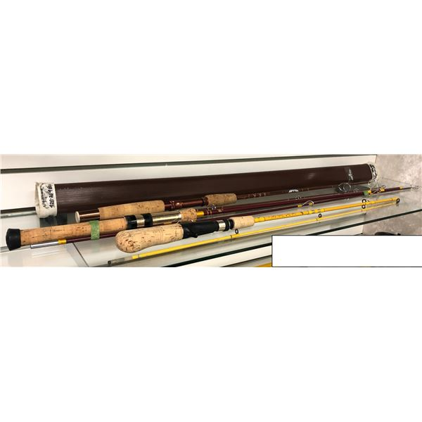 Group of three spinning/casting rods - Fenwick/ Eagle Claw/ Gendix