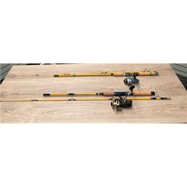 Two spinning rod & reel combos - Eagle Claw w/ Shakespear reel & Eagle Claw w/ Ryobi reel