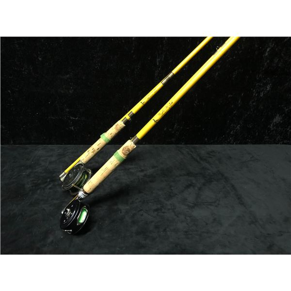 Two Wright & McGill flyrods w/ Martin fly reels
