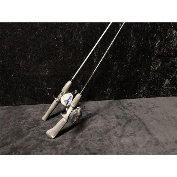 Two casting rods - Berkley w/ Daiwa MA15G reel & Shakespeare w/ Shakespeare alpha reel