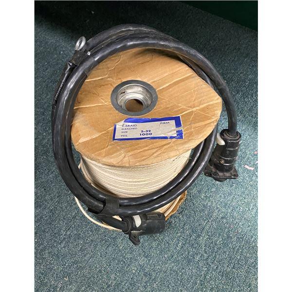 Spool of approx. 1000 yards of t-braid twine & RV power cord