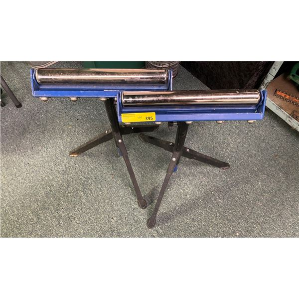 Pair of adjustable shop material rollers