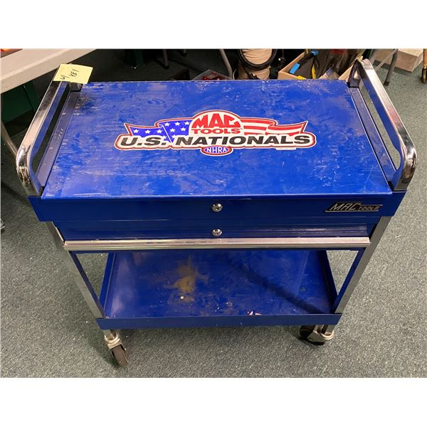 Mac tools rolling shop cart - single drawer w/ top open cabinet (comes with key)