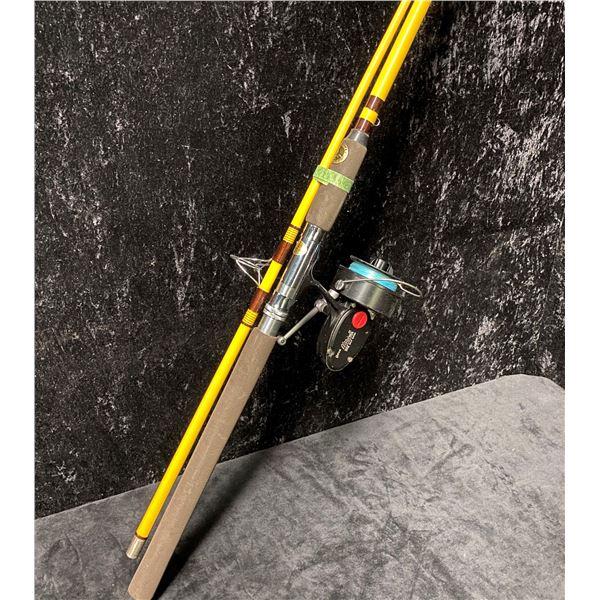 "Eagle Claw ""GRANGER"" ocean spinning rod w/ Mitchell 302 salt water spinning reel"