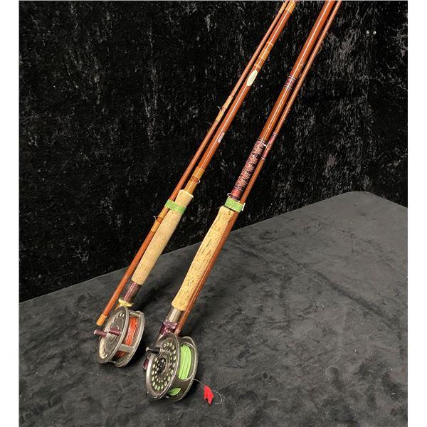 Two fly rods - Anderson w/ intrepid reel & Orange rod w/ intrepid rim fly reel