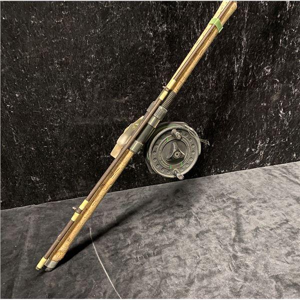 Bill Dickson custom mooching rod w/ Daiwa DC375 mooching reel w/ depth counter