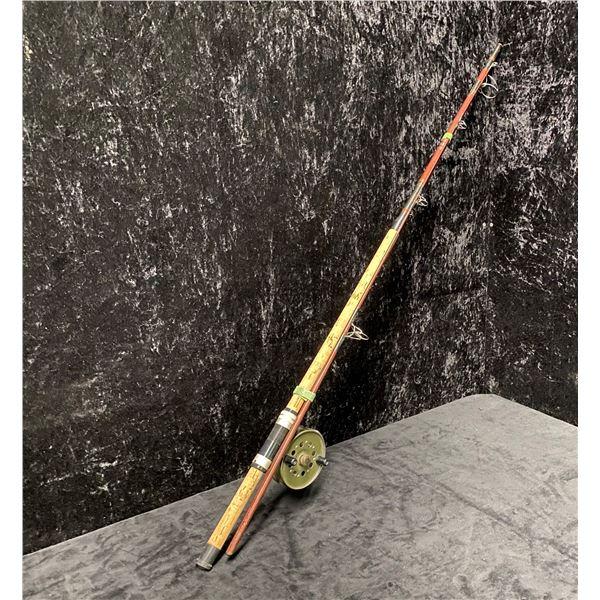 Daiwa Baltic 8ft salmon rod w/ strike right centre pin salmon reel