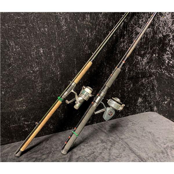 Two heavy duty spinning rods - Daiwa samurai rod w/ quantum SX reel & Zepco Rhino rod w/ Daiwa 406A
