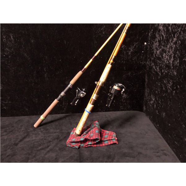 2 spinning rod & reel combo - Pacific striker w/mitchell 206 & Carboley w/mitchell 300 reel