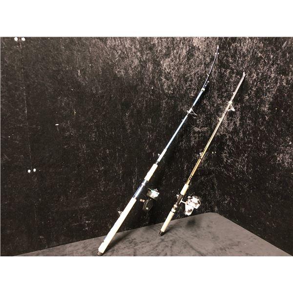 2 spinning rod & reel combo - Garcia w/mitchell 306 & Silstar w/Daiwa 135 OK reel