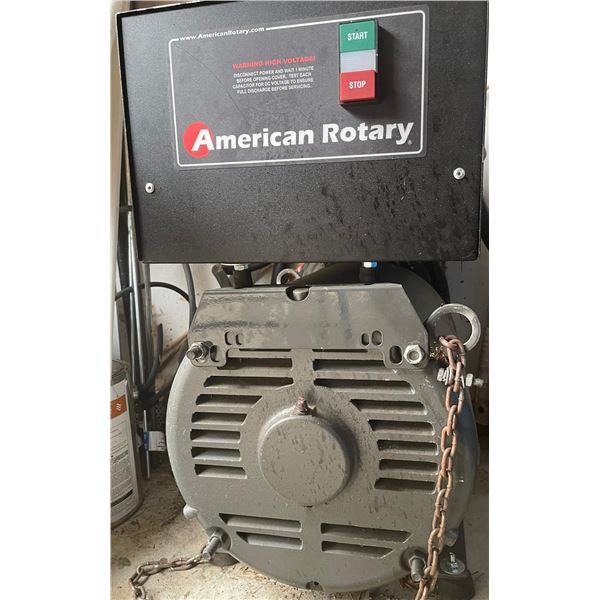 American Rotary AR20 Phase Convertor Used Once for 10 Minutes