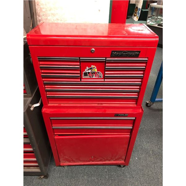 Two pc. rolling tool cabinet - Mastercraft 10 drawer cabinet w/ waterloo chest full of assorted tool