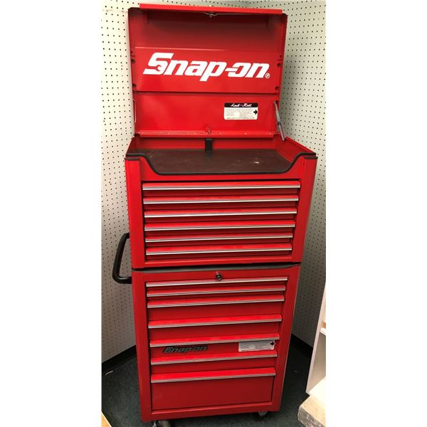 Snap-on 2 pc. rolling 13 drawer tool cabinet (w/ keys)