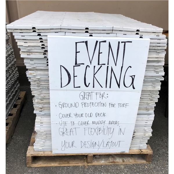 One pallet of approx. 550 sq.ft. event decking - outdoor decking system