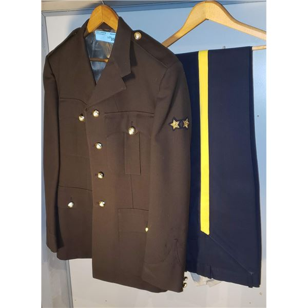 RCMP Auxiliary service tunic 1971 men's jacket and straight leg pants