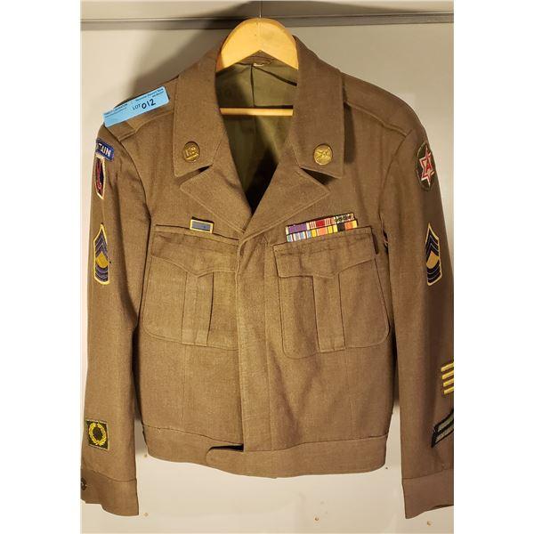 WWII US ARMY IKE jacket w/ unite citation