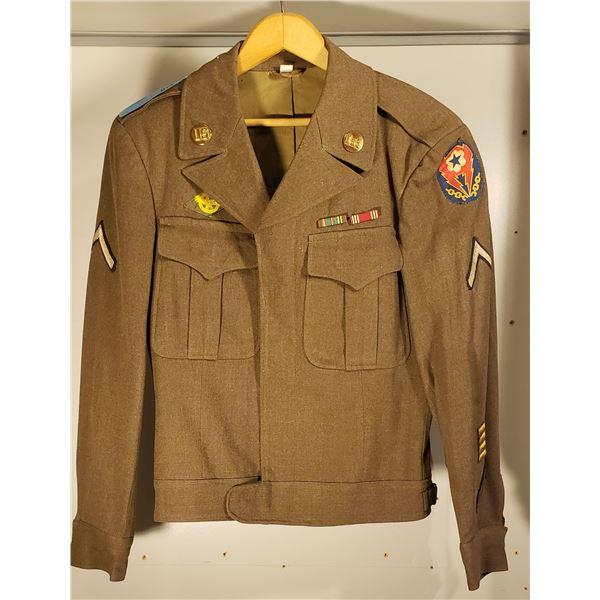 WWII US Army 1944 named IKE jacket w/ WWII patch.