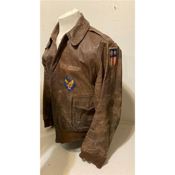 WWII US Army WWII Type A-2 8th air force China burma, replacement cuffs, original horse side jacket
