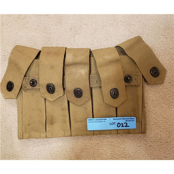 WWII US Army Thompson submachine 5 mag combat pouch