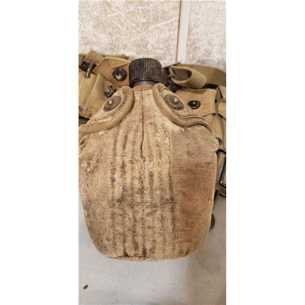 WWII Assault webbing canteen ammo pouches M1 Garand ammo pouches