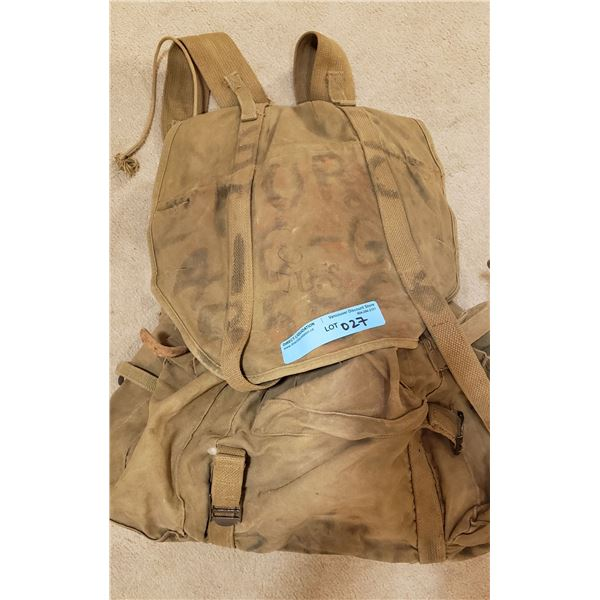 WWII US army medal frame combat pack complete