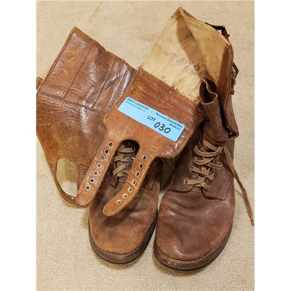 WWII Pair of WWII combat boots (rough out boots)