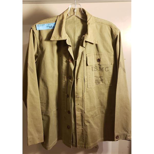Saigon US marine corps, herringbone jacket, early Saigon, US marine corp printed