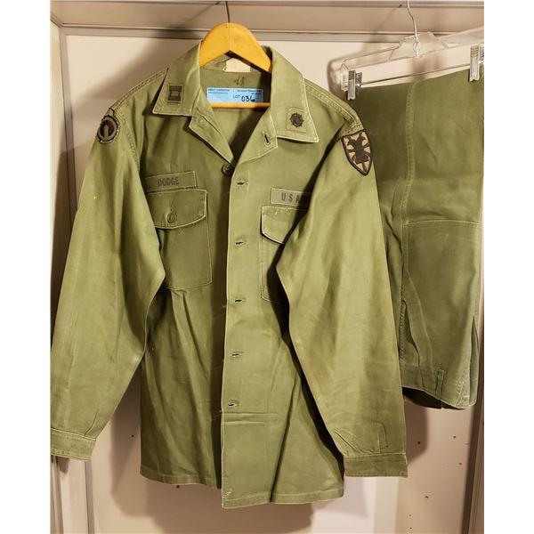 Saigon era lieutenant starched shirt and pants, all original