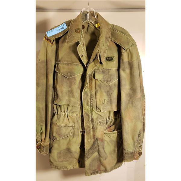 Saigon US marine corps ranger jacket Saigon era, hand painted camo with felt pens as camo was never