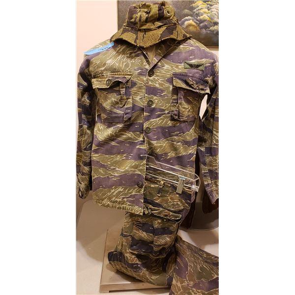Saigon Original in country Saigon Tiger Stripe jackets, pant, Boonie (extremely rare) 3pce